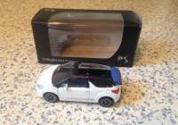 Norev citroën 1/64 , DS3 cabrio wit, blauw dak, Mint in box